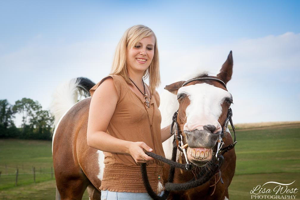 f1b7b632 ... PA Woman with horse smiling in Pittsburgh, ...